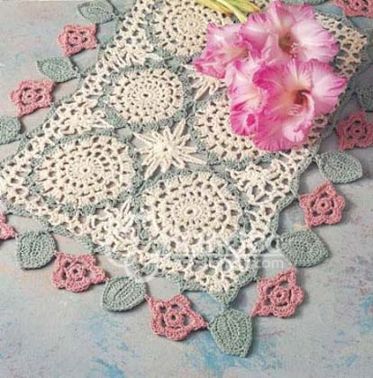 钩针桌布 hand china crochet tablecloth  潮汕手钩
